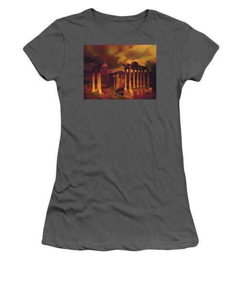 The Roman Forum Women's T-Shirt (Junior Cut) by Blue Sky