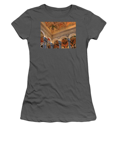 The Roof Above Jefferson's Books  Women's T-Shirt (Athletic Fit)