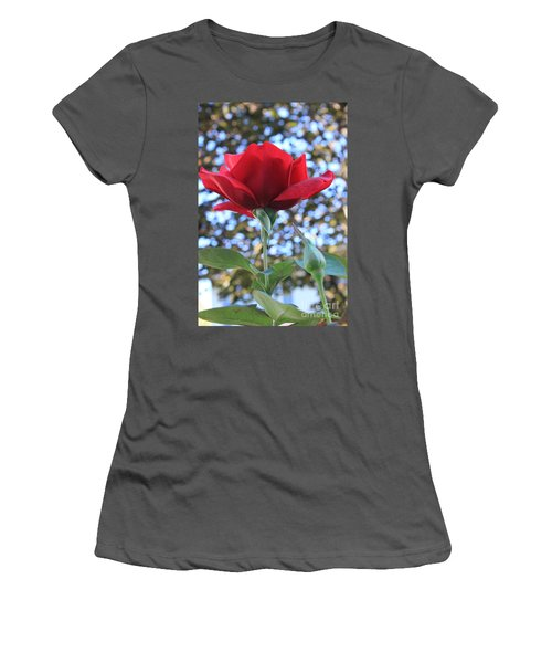 The Rose And Bud Women's T-Shirt (Athletic Fit)