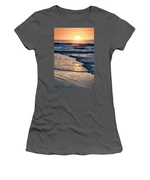 Sun Rising Over The Beach Women's T-Shirt (Athletic Fit)