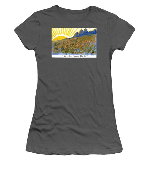 The Sun Shines For All Women's T-Shirt (Athletic Fit)