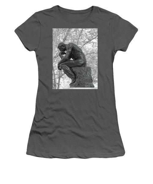 The Thinker - Philadelphia Bw Women's T-Shirt (Junior Cut) by Ann Horn
