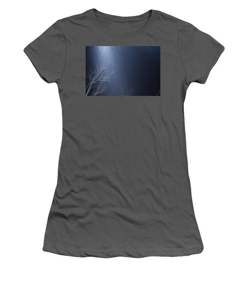 The Tree Under The Snowfall Women's T-Shirt (Athletic Fit)