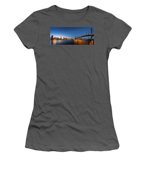 The Two Bridges Women's T-Shirt (Athletic Fit)