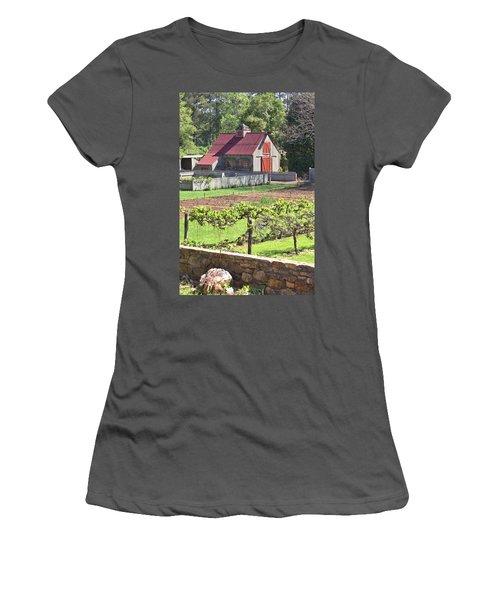 The Vineyard Barn Women's T-Shirt (Junior Cut) by Gordon Elwell