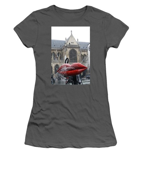 The Wet Kiss Women's T-Shirt (Athletic Fit)