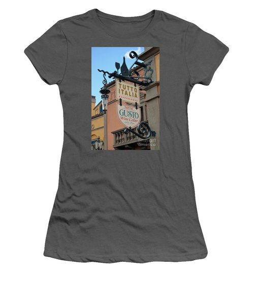 Women's T-Shirt (Junior Cut) featuring the photograph The Wine Cellar by Robert Meanor
