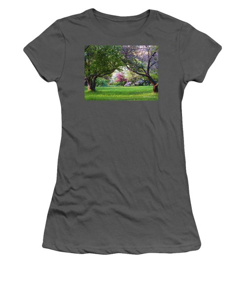 Women's T-Shirt (Junior Cut) featuring the photograph There Is No Place Like Spring by Judy Via-Wolff
