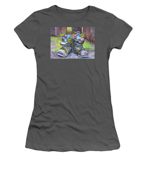 These Boots Were Made For Planting Women's T-Shirt (Junior Cut) by Carol Wisniewski