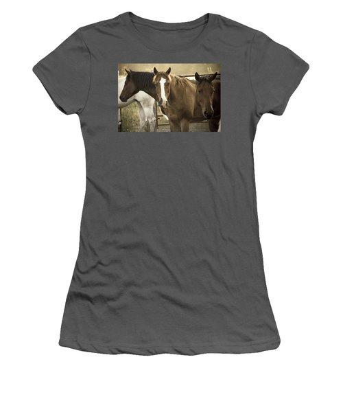 Women's T-Shirt (Junior Cut) featuring the photograph Three Amigos by Steven Bateson