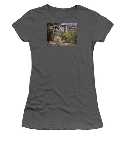 Three Bridges Women's T-Shirt (Junior Cut) by Jane Thorpe