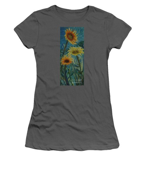Three Sunflowers - Sold Women's T-Shirt (Athletic Fit)