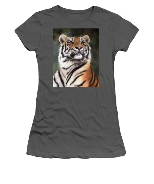 Tiger Painting Women's T-Shirt (Athletic Fit)