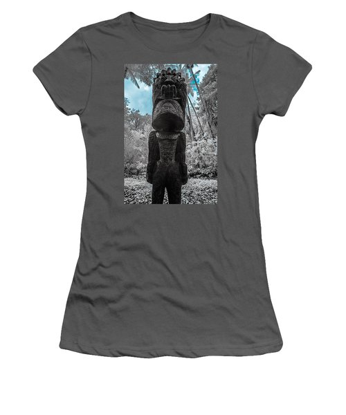 Tiki Man In Infrared Women's T-Shirt (Athletic Fit)