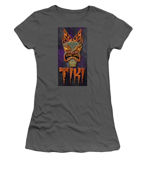Women's T-Shirt (Junior Cut) featuring the photograph Tiki by WB Johnston