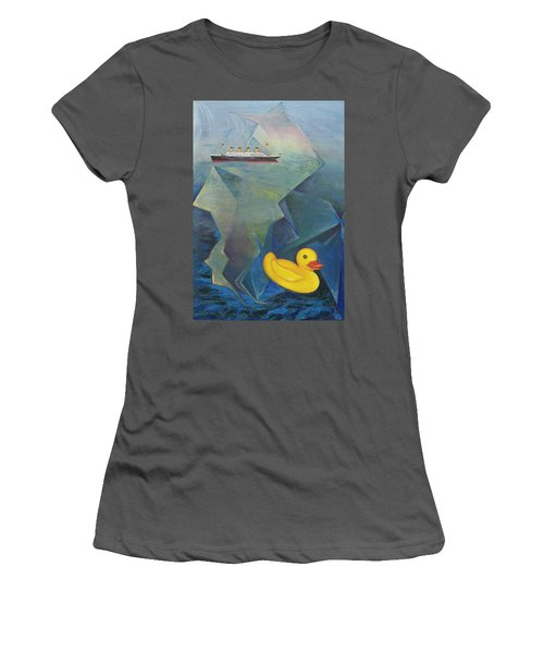 Titanic And The Ducky Women's T-Shirt (Athletic Fit)
