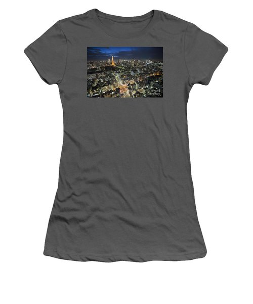 Tokyo Tower At Night Women's T-Shirt (Athletic Fit)