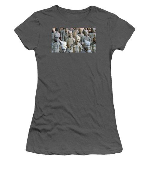 Women's T-Shirt (Junior Cut) featuring the photograph Tomb Warriors by Robert Meanor