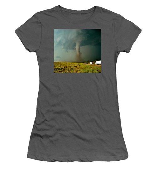 Tornado Truck Stop II Women's T-Shirt (Junior Cut) by Ed Sweeney