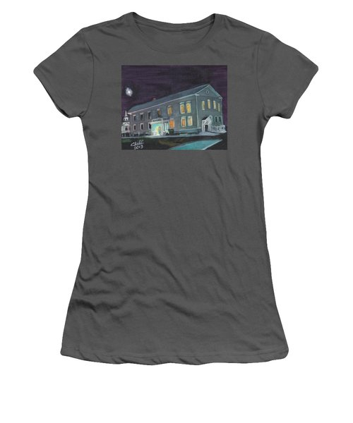 Town Hall At Night Women's T-Shirt (Athletic Fit)