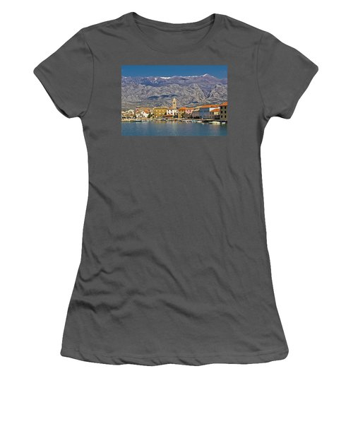 Town Of Vinjerac Waterfrot View Women's T-Shirt (Athletic Fit)