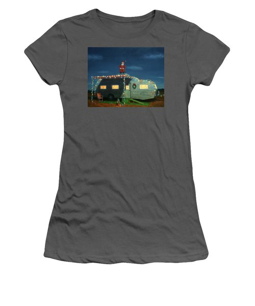 Trailer House Christmas Women's T-Shirt (Junior Cut)