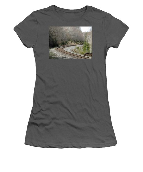 Train It Coming Around The Bend Women's T-Shirt (Junior Cut) by Brenda Brown