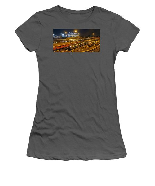 Trains Nyc Women's T-Shirt (Athletic Fit)