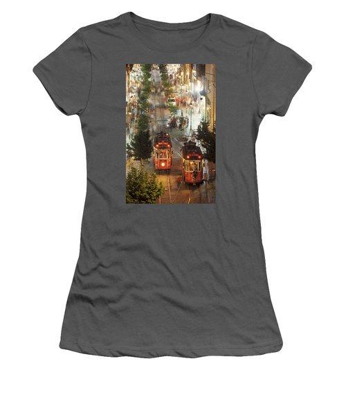 Trams In Beyoglu Women's T-Shirt (Athletic Fit)
