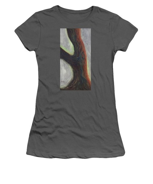 Tree Cut Off Women's T-Shirt (Athletic Fit)