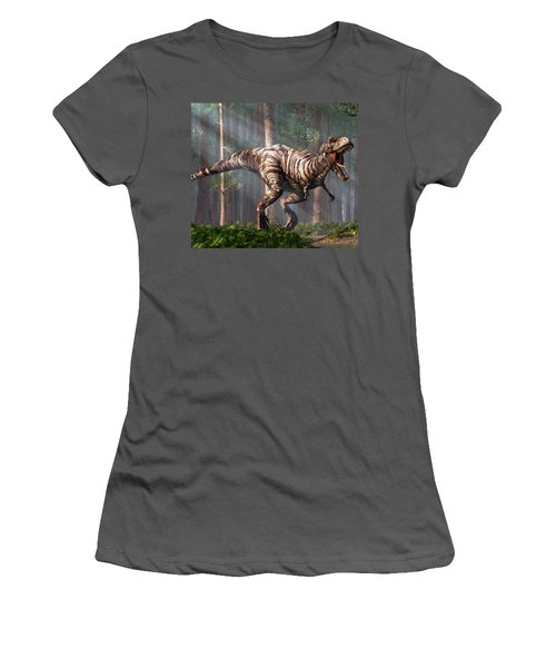 Trex In The Forest Women's T-Shirt (Athletic Fit)