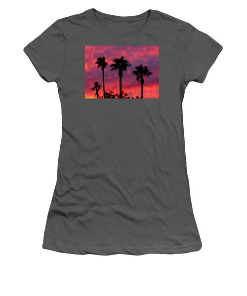 Tropical Sunset Women's T-Shirt (Athletic Fit)