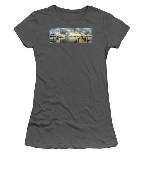Tropical Winds In Orange Beach Women's T-Shirt (Junior Cut) by Michael Thomas