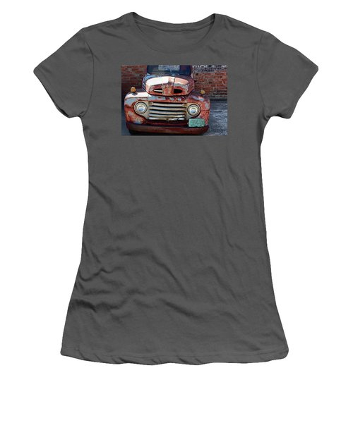 Women's T-Shirt (Junior Cut) featuring the photograph Ford In Goodland by Lynn Sprowl