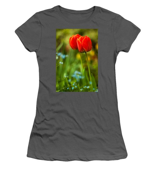 Tulips In Garden Women's T-Shirt (Athletic Fit)