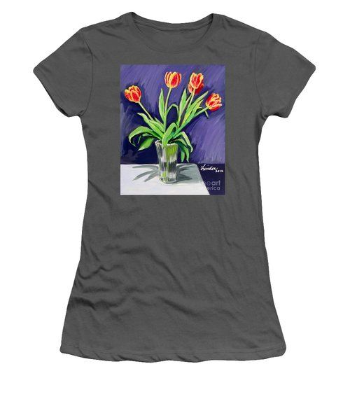 Tulips On The Table Women's T-Shirt (Athletic Fit)