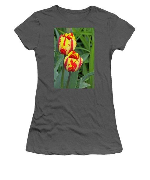 Tulips Women's T-Shirt (Athletic Fit)