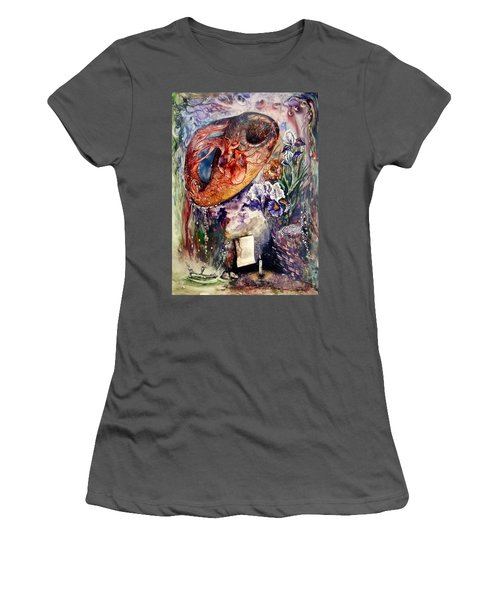 Women's T-Shirt (Junior Cut) featuring the painting Two Realities by Mikhail Savchenko