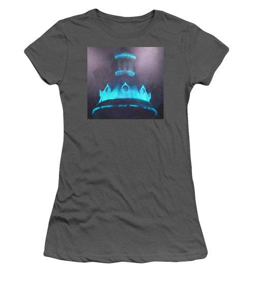 Ufo Dome Women's T-Shirt (Junior Cut) by Blue Sky