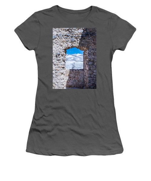 A Window On The World Women's T-Shirt (Athletic Fit)