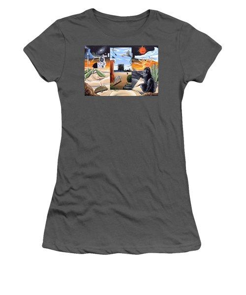 Women's T-Shirt (Junior Cut) featuring the digital art Understanding Everything Full by Ryan Demaree