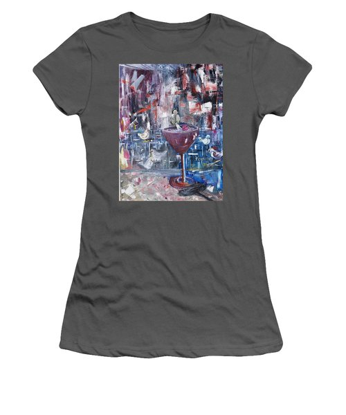 Women's T-Shirt (Junior Cut) featuring the painting Untitled by Evelina Popilian