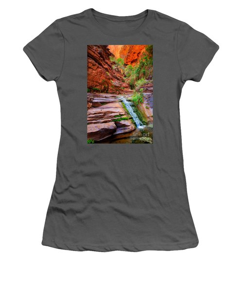 Upper Elves Chasm Cascade Women's T-Shirt (Athletic Fit)