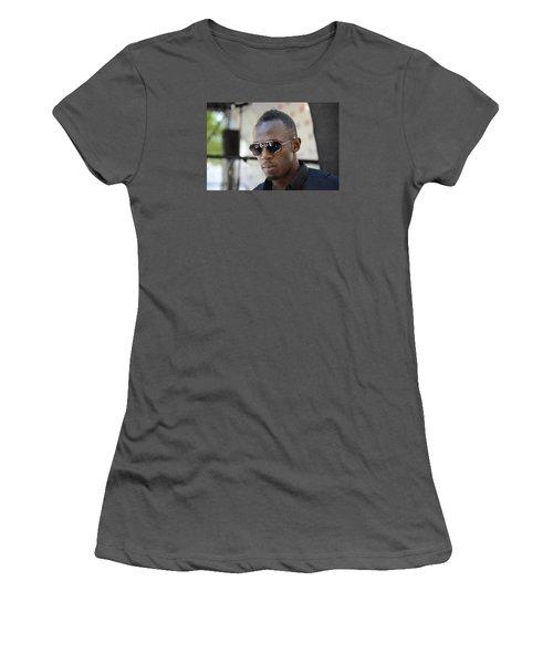 Usain Bolt - The Legend 3 Women's T-Shirt (Junior Cut) by Teo SITCHET-KANDA