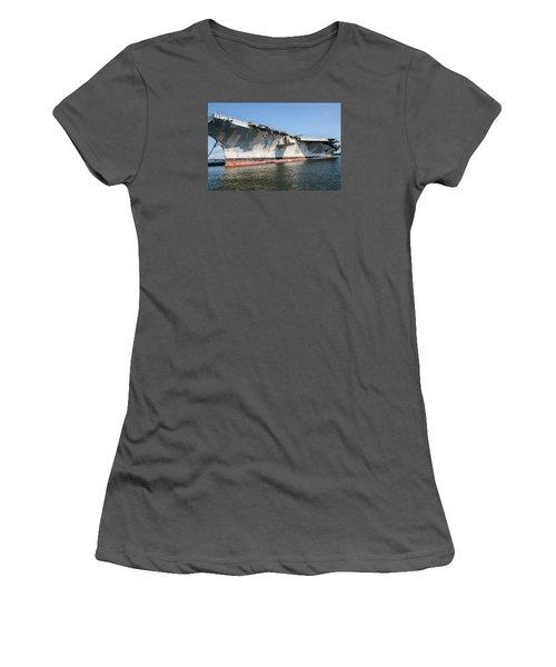 Uss John F. Kennedy Women's T-Shirt (Junior Cut) by Susan  McMenamin