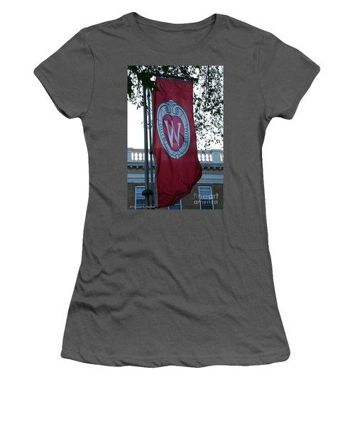 Uw Flag Women's T-Shirt (Athletic Fit)