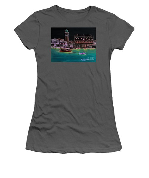 Venice At Night Women's T-Shirt (Athletic Fit)