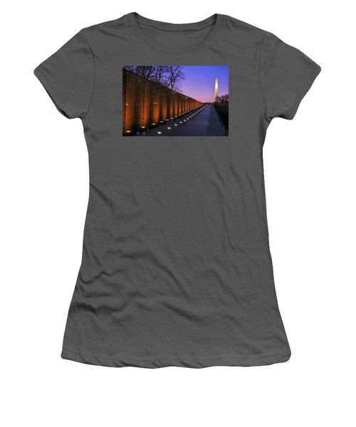 Vietnam Veterans Memorial At Sunset Women's T-Shirt (Athletic Fit)