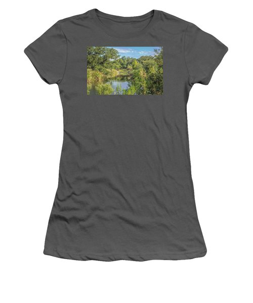 View Down The Creek Women's T-Shirt (Athletic Fit)