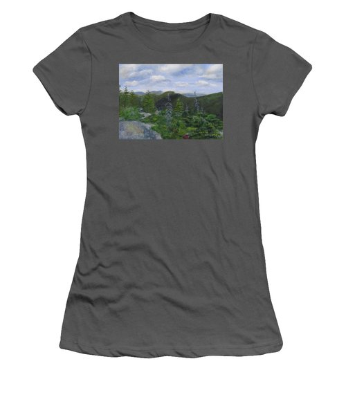 View From Noon Peak Women's T-Shirt (Athletic Fit)